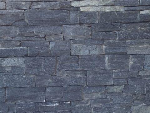 Black Rustic stone - segmentový obklad